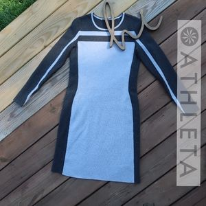 ATHLETA • Sporty Chic Stripe Dress NWOT